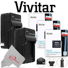 Three Vivitar VIV-CB-11LH Battery and Two Battery Charger for Canon NB-11L/NB-11LH