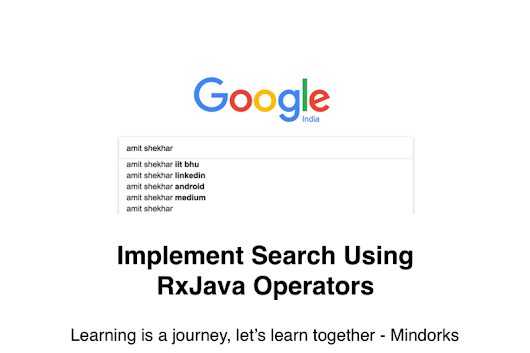 Implement Search Using RxJava Operators