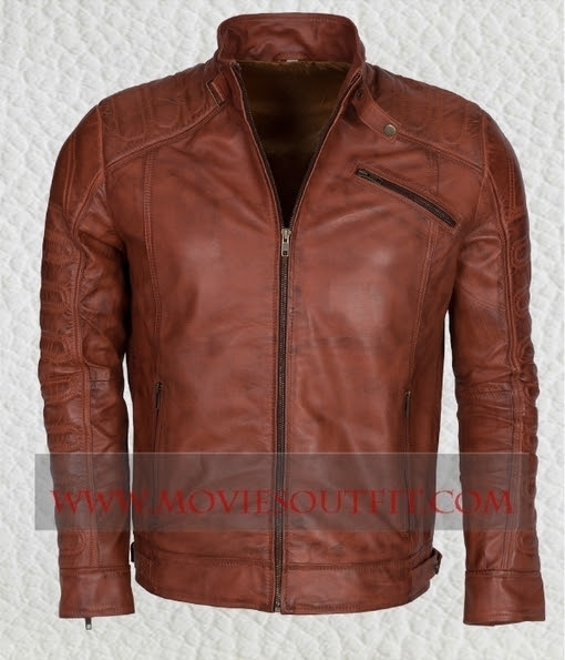 mens brown biker waxed Nappa leather jacket | Celebrity Leather and Biker Jackets