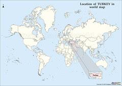 Kedudukan Turkey Dlm Peta Dunia