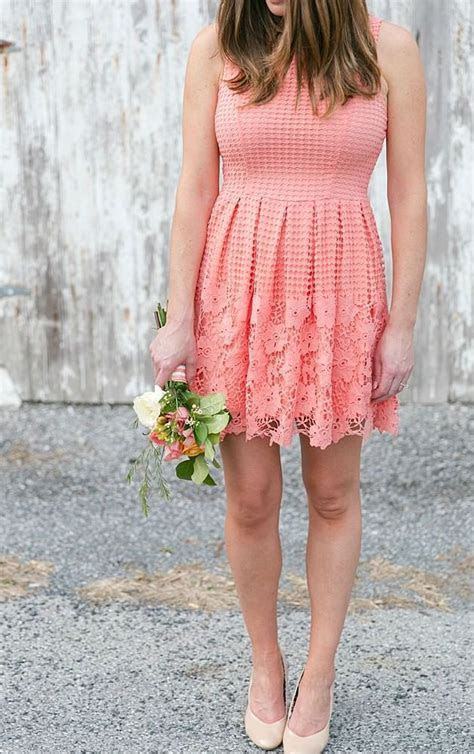 25  best ideas about Short coral bridesmaid dresses on