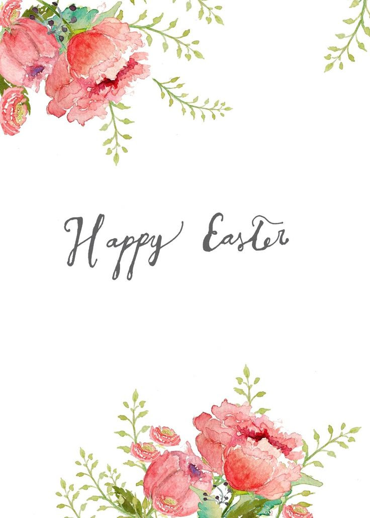 Free watercolor Easter printable