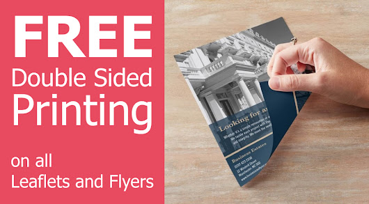 Free Double Sided Printing on all our leaflets and flyers