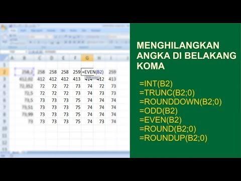 Cara Menghilangkan Angka di Belakang Koma pada Microsoft Excel