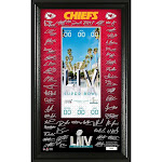Highland Mint AFC Champions Kansas City Signature Ticket Frame