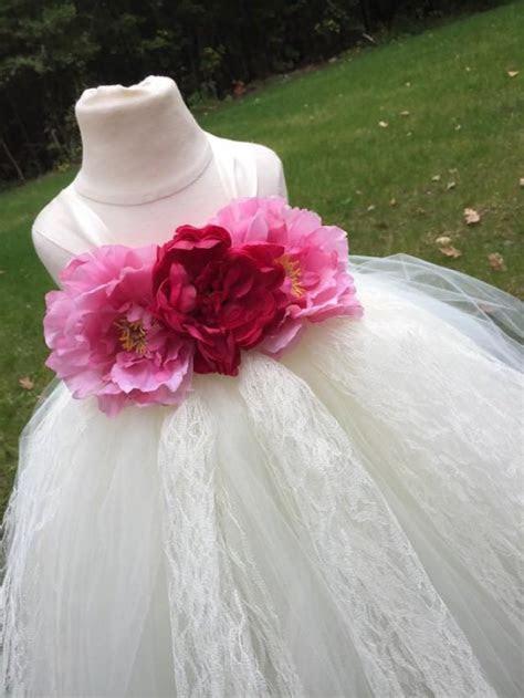 Ivory, Pink And Light Pink Girls Tulle Dress, Blush Pink