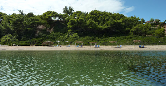 Private sandy beach and magnificent sea view in Kassandra, Halkidiki