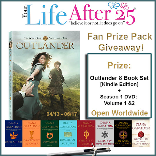 Outlander Season 2 is HERE! Enter To Win our #Outlander Fan Prize Pack Giveaway! - Your Life After 25: