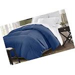 Microfiber Down Alternative Comforter (KING) Navy (Blue)