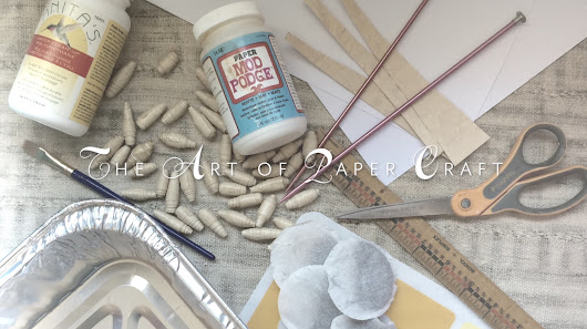 The Art of Paper Craft: Make Chunky Tea-Dyed Paper Beads!