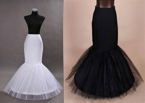 Fishtail Mermaid Prom wedding dress Crinoline Petticoat