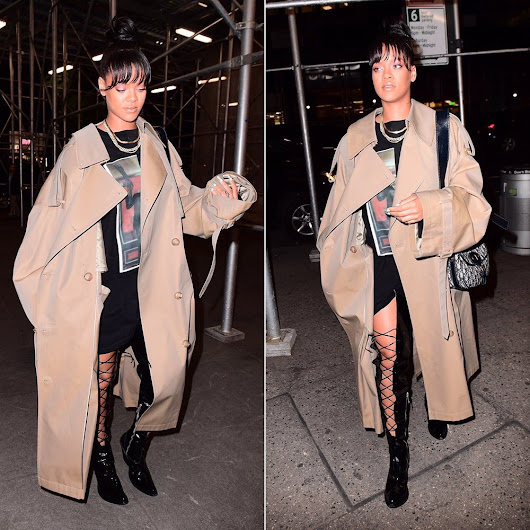Rihanna Out and About in Juun J Fall 2017 - Haus of Rihanna