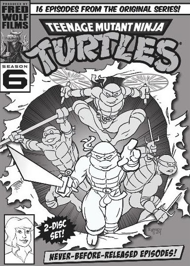 TMNT (The Original Series) DVD Volume 6 cover Roughs from Lion's Gate [[ Courtesy of Steve Murphy ]] ..