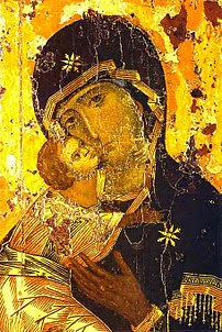 The veneration of the Theotokos as a holy protectress of Vladimir was introduced by Prince Andrew, who dedicated to her many churches and installed in his palace a venerated image, known as Theotokos of Vladimir.