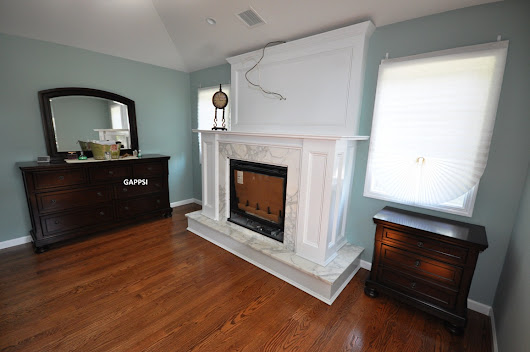 Indoor Fireplace custom designed and built by Gappsi in Commack NY 11725