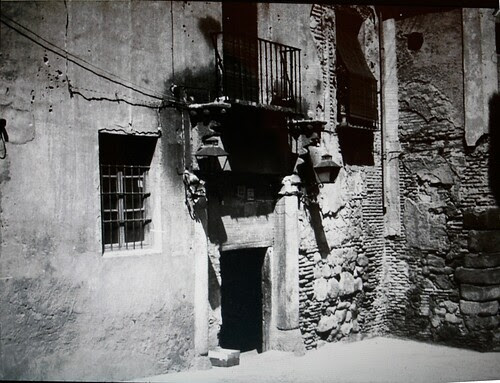 Portada del Pasadizo de Balaguer (Antiguo Palacio de Caracena) en el siglo XIX.