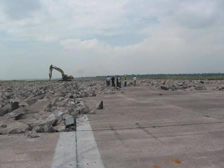 Demolition of runway at Kinshasa Ndjili International