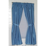 "Carnation Home ""Lauren"" Diamond-Piqued, 100% Polyester Window Curtain in Light Blue"
