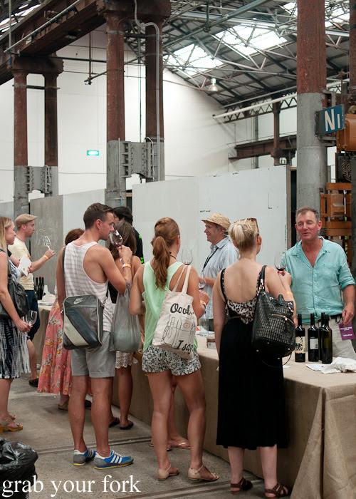 Tasting stalls at the Rootstock Sydney 2014 Wine Festival