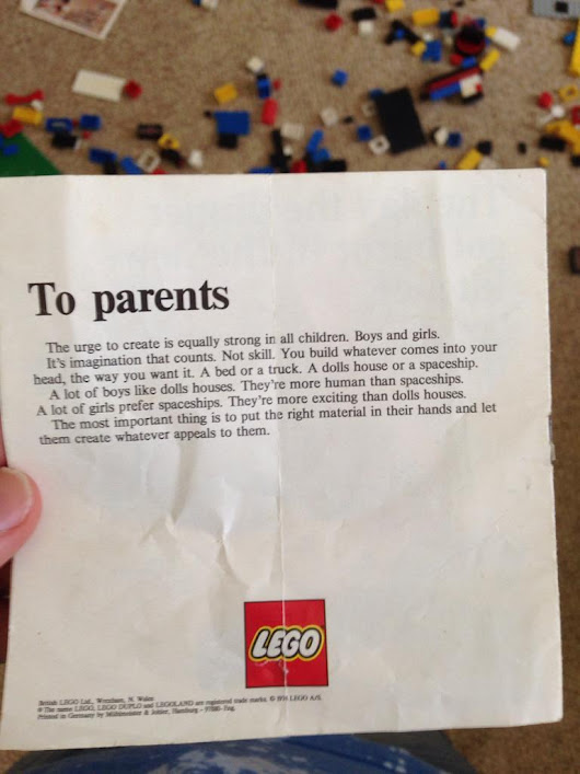 On LEGO and gender-neutral toys   This image from...  - Austin Kleon