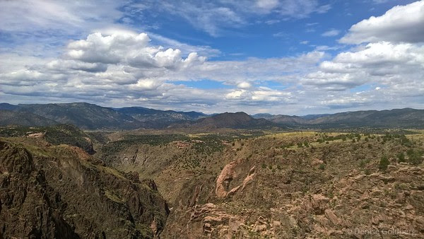 the view from the end of the bridge, at Royal Gorge