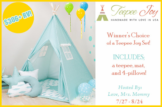 Winner's Choice of Teepee Joy Set Giveaway! $306+ RV - Mama Hippie