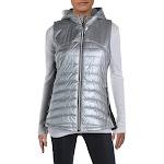 Anorak Womens Yoga Winter Puffer Outerwear Vest Silver