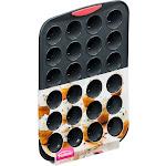 Trudeau Maison Silicone Mini Muffin Pan Gray/Coral-24 Cavity