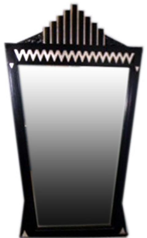 A Large American Art Deco Theater Skyscraper Style Mirror | Modernism