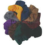 threddies Thermal Scrunchies (Dark Colors Assortment) / 9 Piece Pack