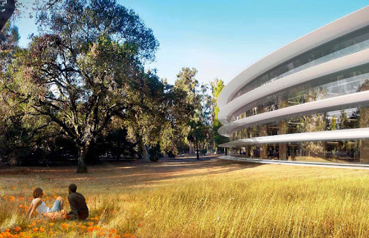 inside apple's cupertino spaceship campus by foster + partners