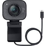 Logitech StreamCam, 1080P HD Streaming Webcam Built-in Microphone, Graphite