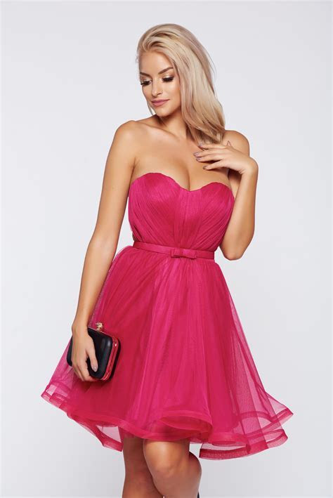 Ana Radu pink occasional corset dress with push up cups