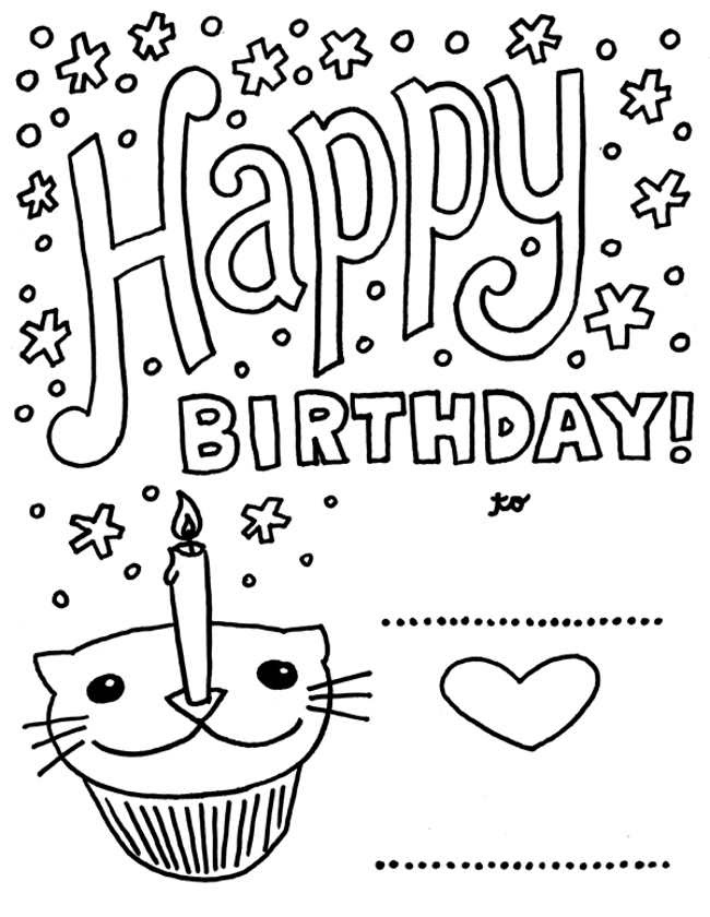 Greeting Card Coloring Pages at GetColorings.com | Free ...