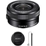 Sony SELP1650 Zoom Lens for Sony E-Mount - 16mm-50mm - F/3.5-5.6 - Black