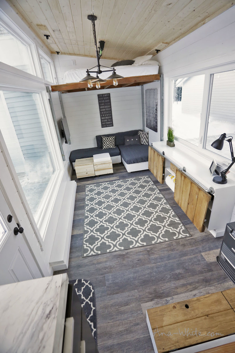 Open Concept Rustic Modern Tiny House Photo Tour and ...