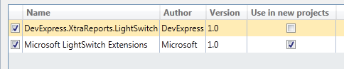 LightSwitch Reporting Extensions