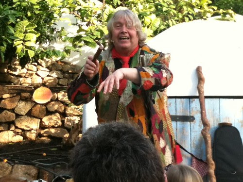 Storyteller in the Mediterranean Biome. Fantastic! #EdenProject