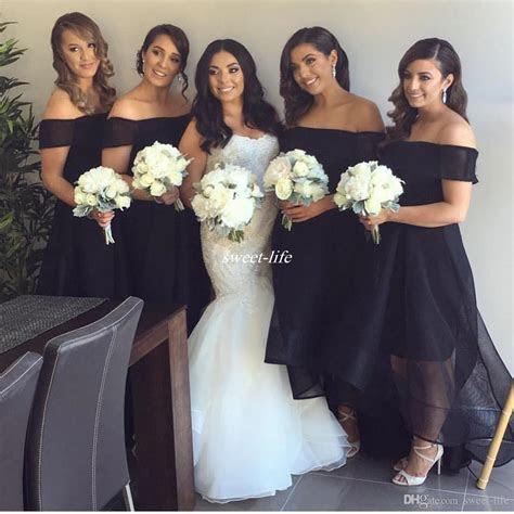 New Design Black Bridesmaid Dresses Plus Size Organza