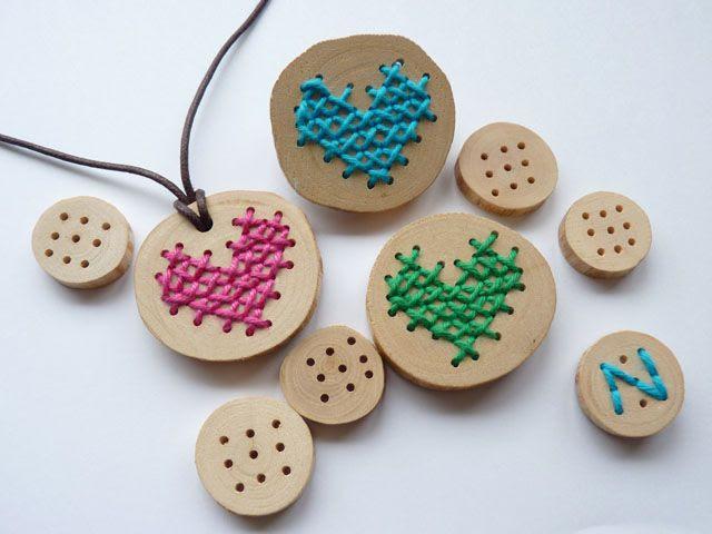 borduren op hout