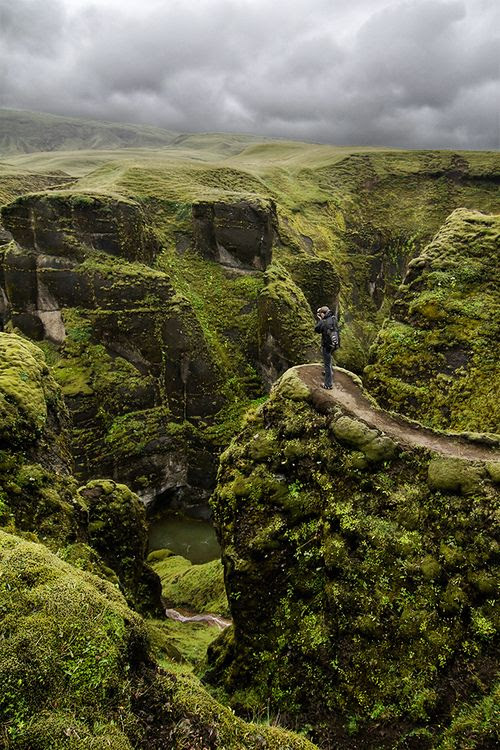 Oh how I would love to see this... Fjaðrárgljúfur Canyon, Iceland