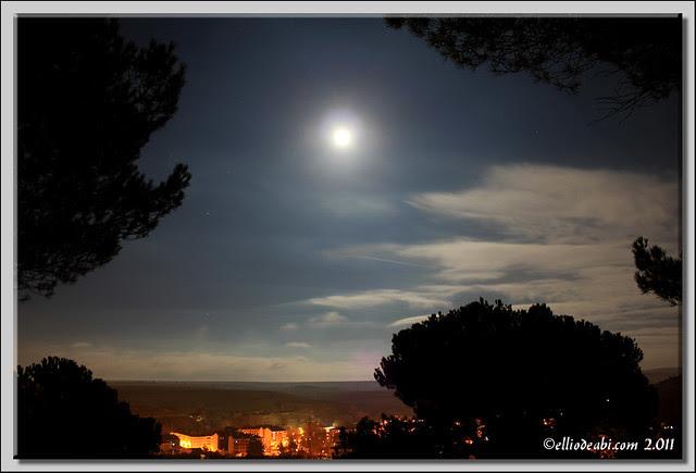 Luna llena sobre Briviesca