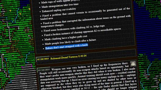 The most ridiculous patch notes from 10 years of Dwarf Fortress