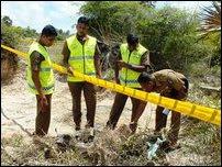 Human skeletons recovered at Mu'l'li in Ariyaalai East
