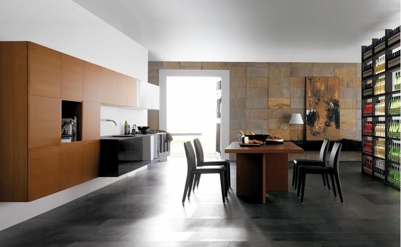 Contemporary kitchen and dining room combo | Minimalisti.