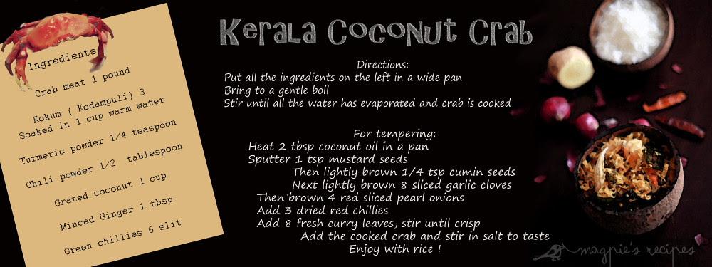 Kerala Coconut Crab Illustration