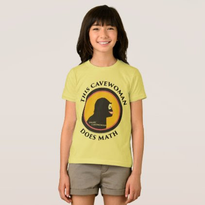 American Apparel T-Shirt: Math Smart Cavewoman T-Shirt