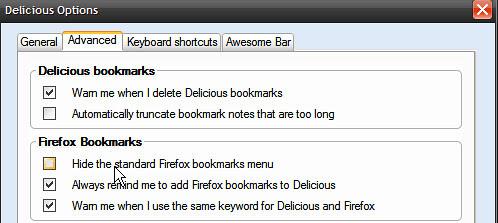 Hide the Standard Firefox bookmarks menu
