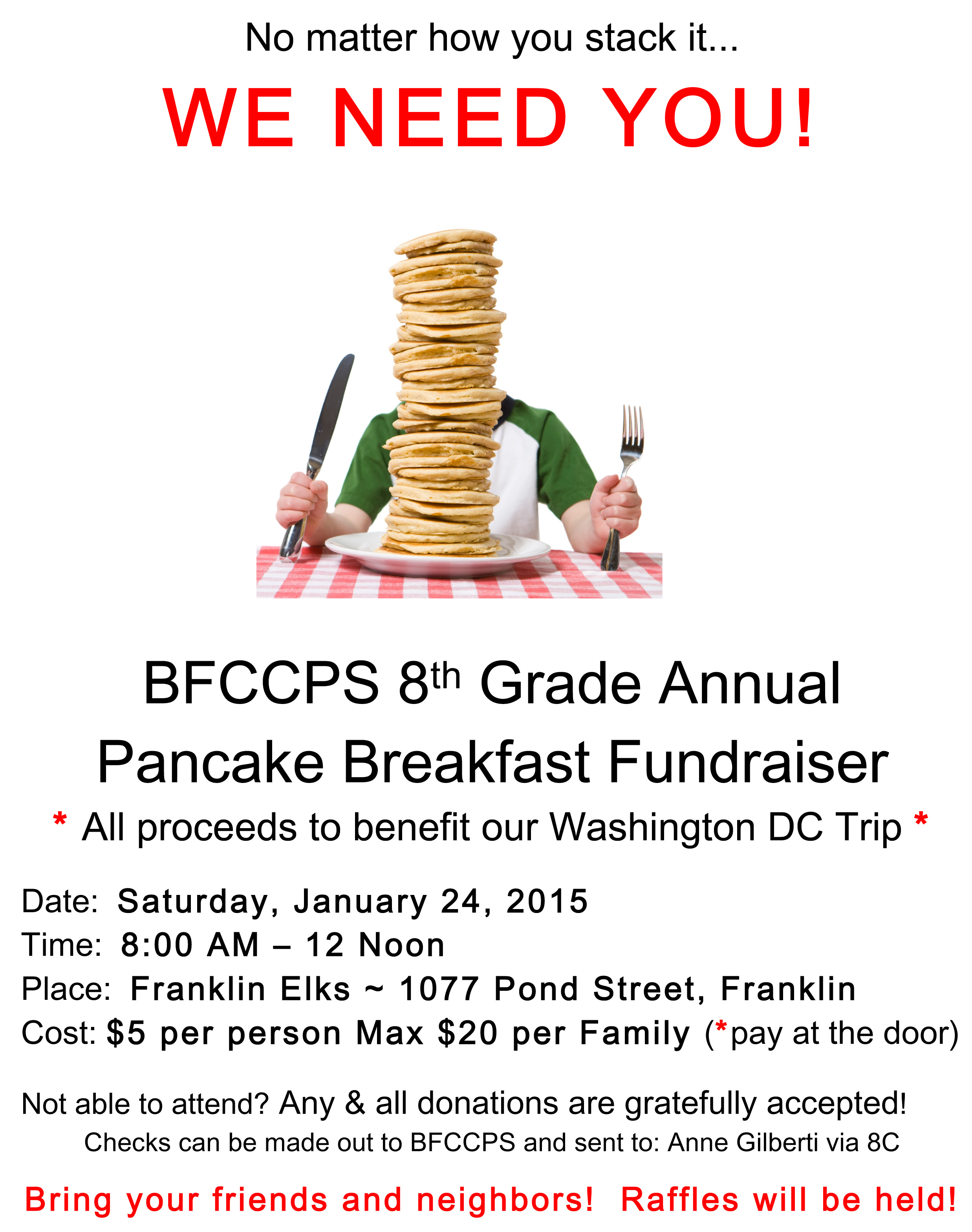 Pancake Breakfast still on  today 8;00 to noon
