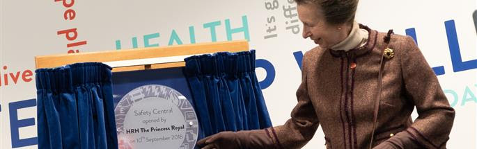 Official opening of Safety Central by The Princess Royal